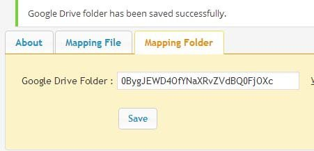 google drive mapping folder