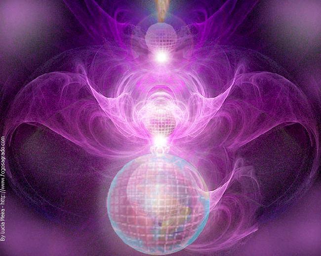 De drievoudige paarse straal