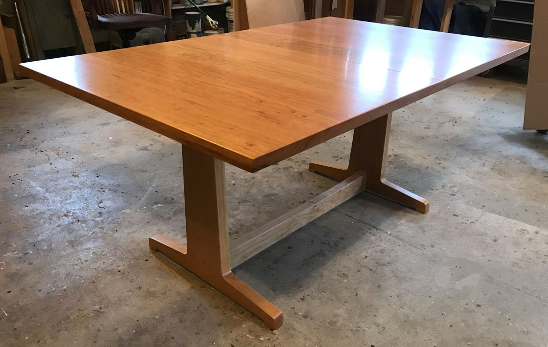 contemporary trestle table cherry