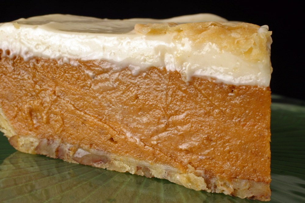 Pumpkin Pie with Cream Topping
