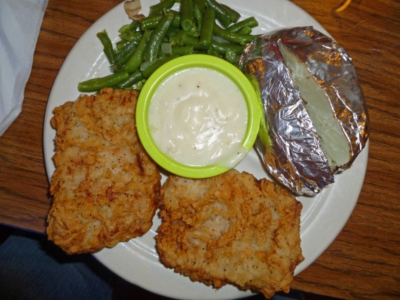 Fried Pork Chop Plate