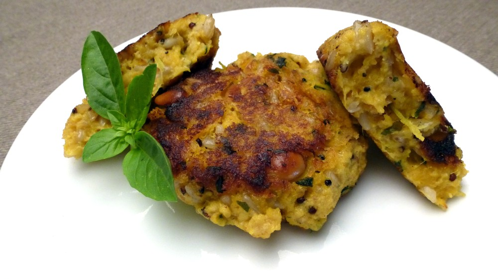 Butternut Squash and Rice Patties