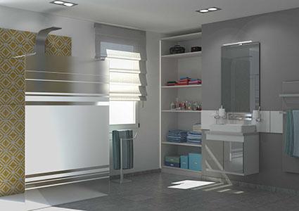 placard de rangement encastre salle de bain