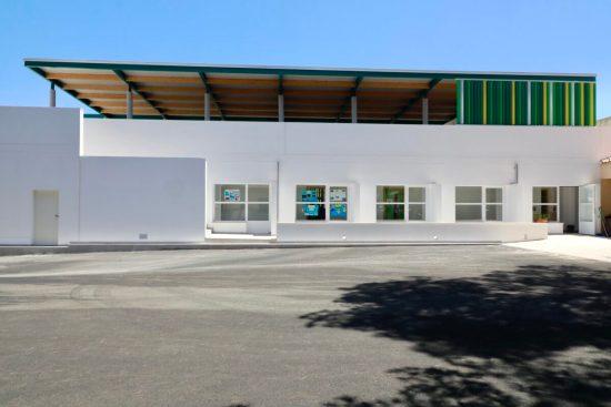 Exterior del CEIP Ses Comes després de l'ampliació
