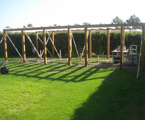 Raamwerk tuinhuis