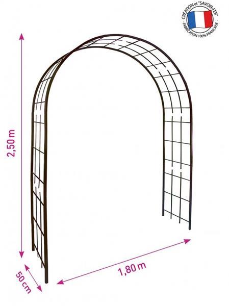 arche dbl decor treillage 3006 larg 180 prof 50 ht 250 cm fer vieilli pergola ref 3006 central jardin