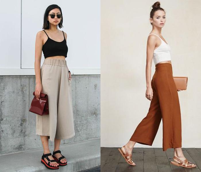 กางเกง 5 ส่วน กับ เสื้อ Crop Top
