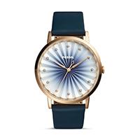 FOSSIL นาฬิกาข้อมือ Vintage Muse Three-Hand Navy Leather Watch รุ่น ES4198 สีน้ำเงิน