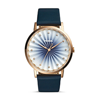 FOSSIL นาฬิกาข้อมือ Vintage Muse Three-Hand Navy Leather Watch รุ่น ES4198 สีน้ำเงิน