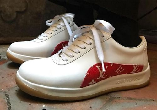 รองเท้าผ้าใบ LouisVuittonxSupreme