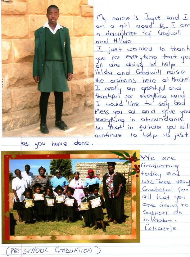 Gloria Says Thank-you