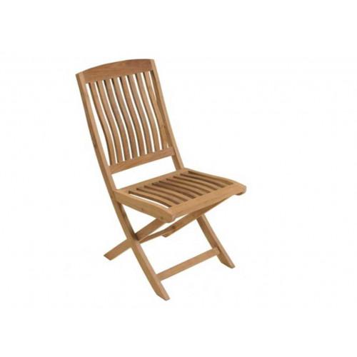 proloisirs lot de 2 chaises pliantes rias 100 teck bois fsc