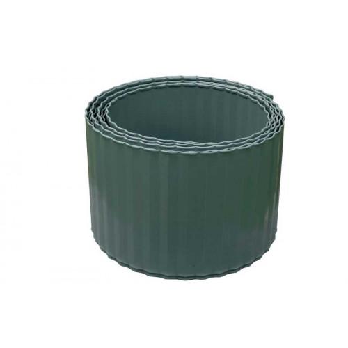 nortene bordure acier ondule 600 x h 14 cm vert