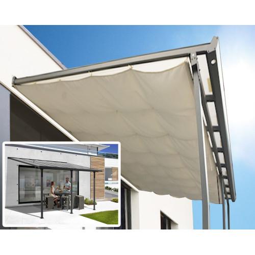 habrita toit terrasse alu gris anthracite s h t 12 83 m ridea