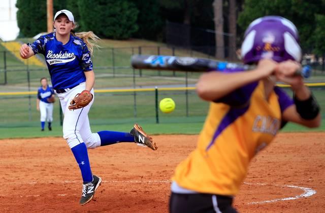 Softball pitcher batter