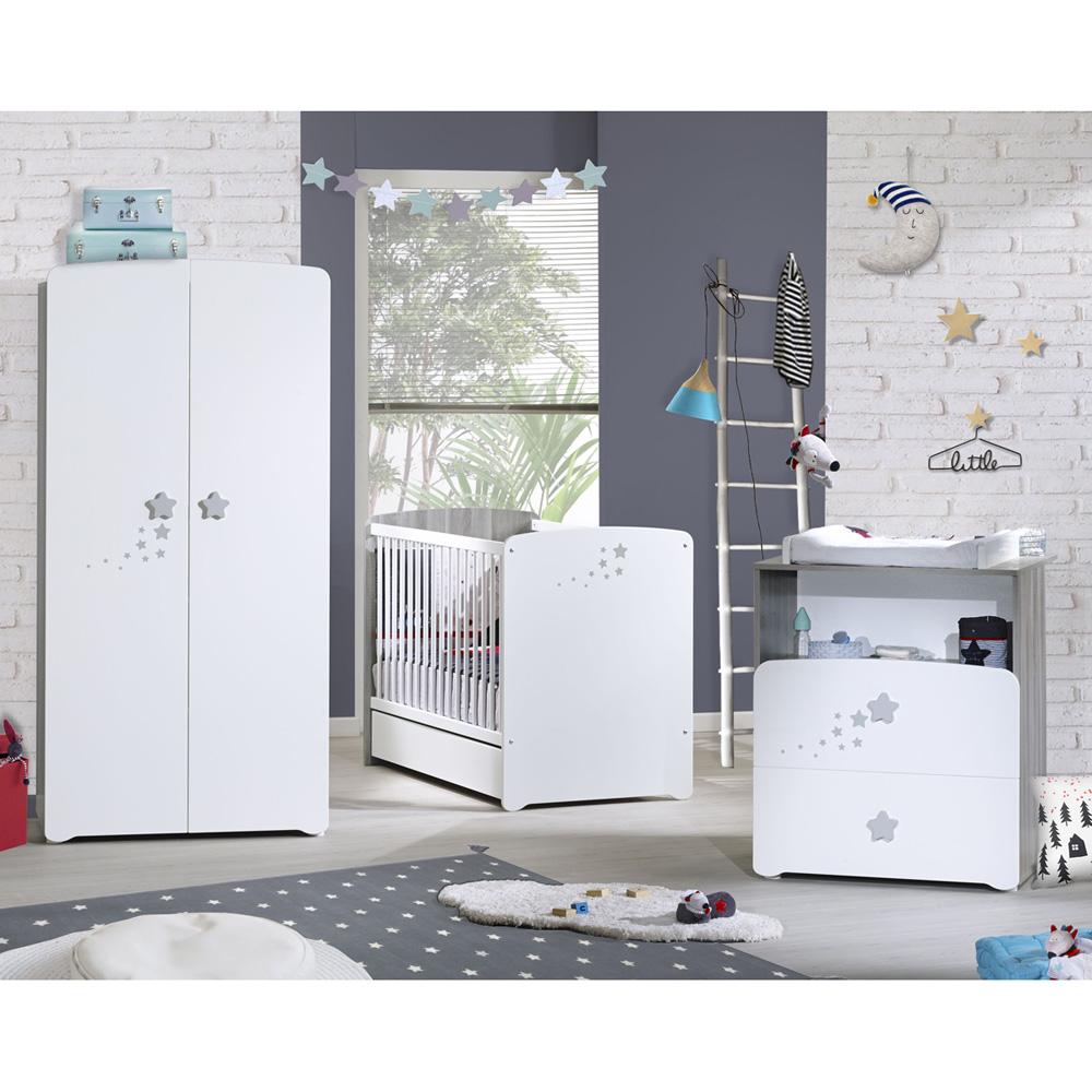 Chambre bb trio nao lit 60x120cm  commode  armoire de Baby price sur allobb