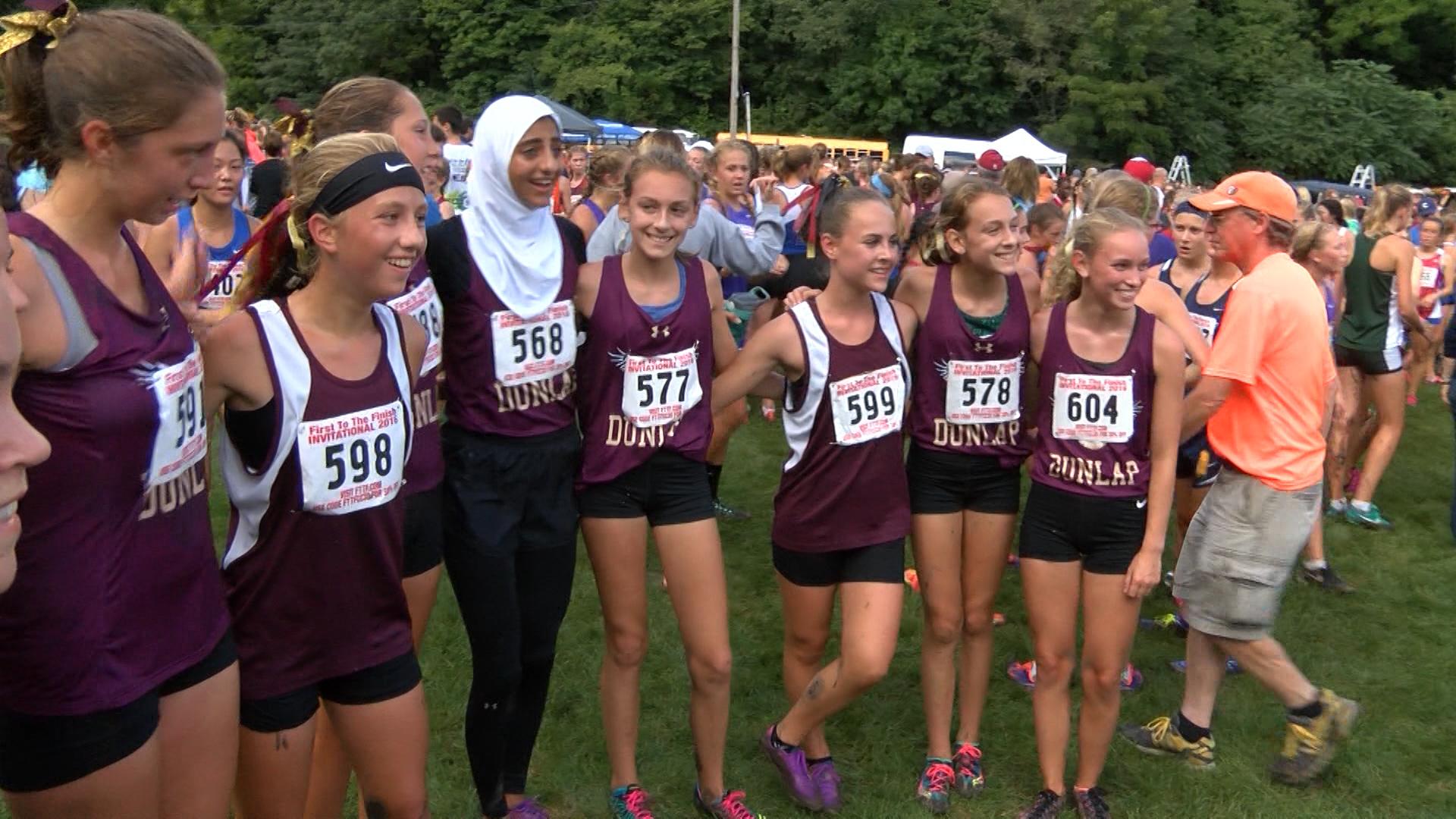 Dunlap girls XC Firat to the Finish