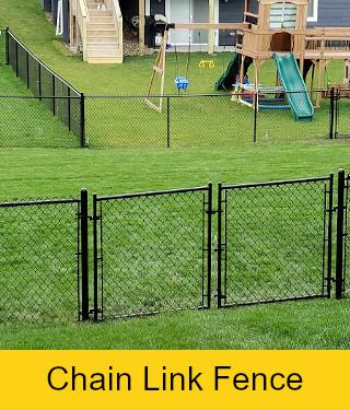 Black Vinyl Double Drive Chain link Gate