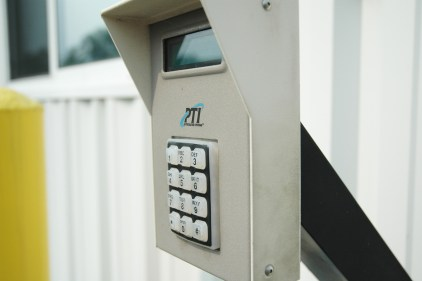Customers access the facility and their unit by punching in a unique code to an electronic keypad.