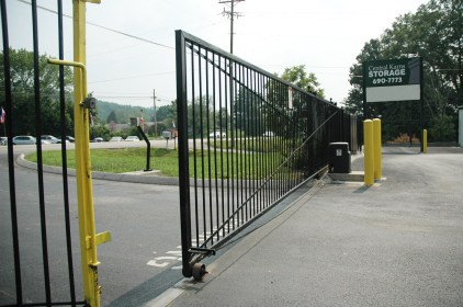 A security gate guards the entire facility.