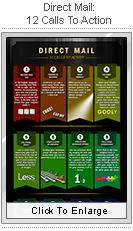 Direct Mail 12 Calls to Action infographic