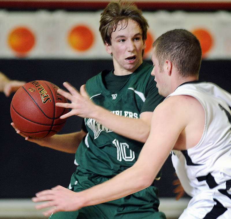 BOYS BASKETBALL HallDales depth too much for Ramblers  Central Maine