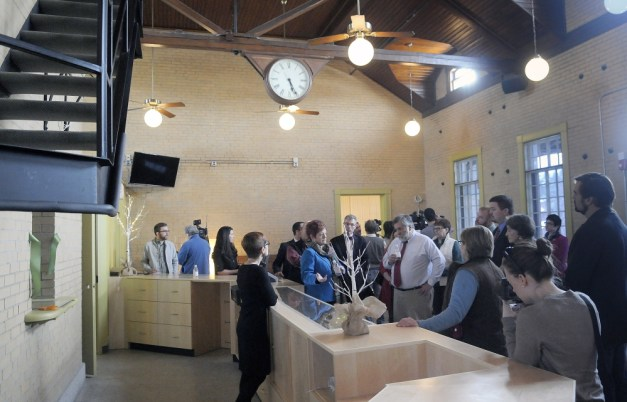 The counter at the Wellness Connection of Maine's new dispensary at the historic train station in Gardiner.