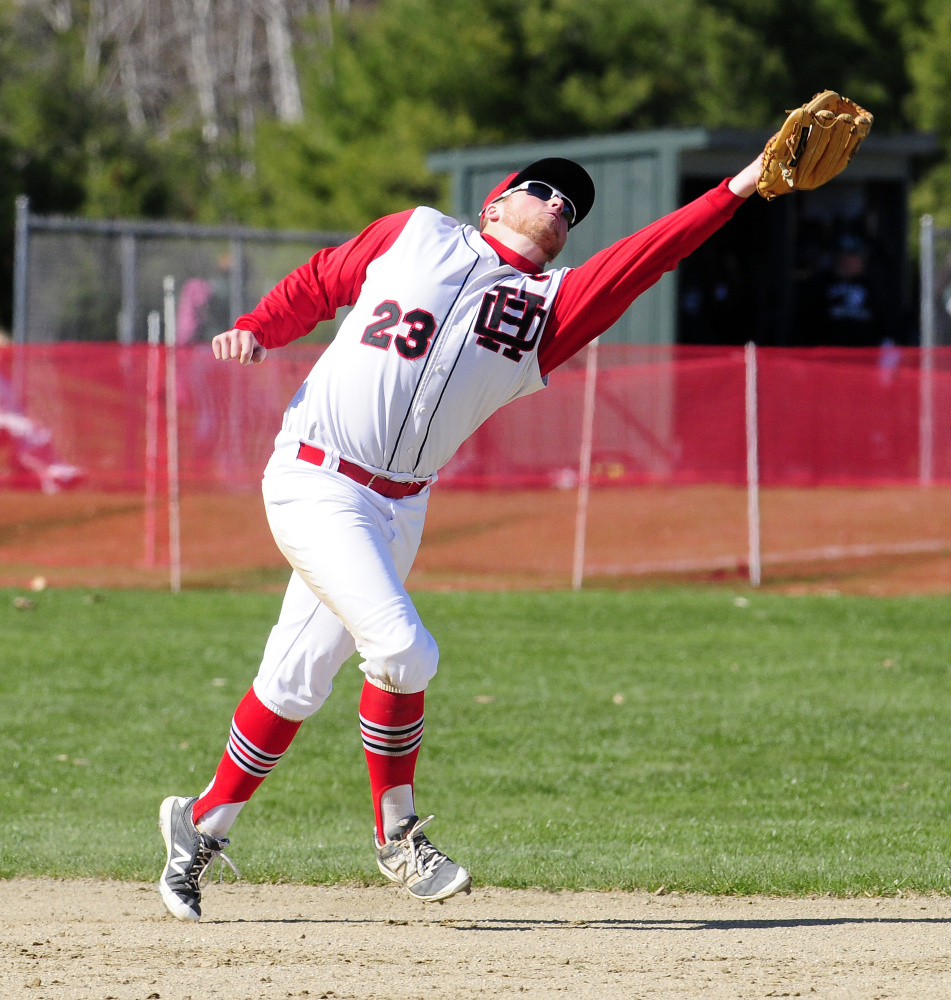 Quinn Stebbins singles HallDale baseball past Carrabec in 8 innings  Central Maine