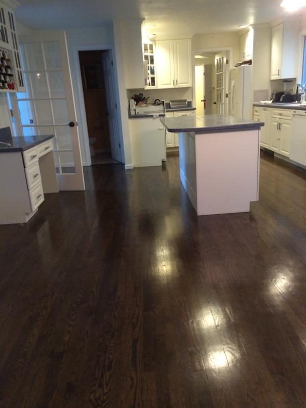 Refinishing Red Oak Hardwood Floors in Marlboro MA