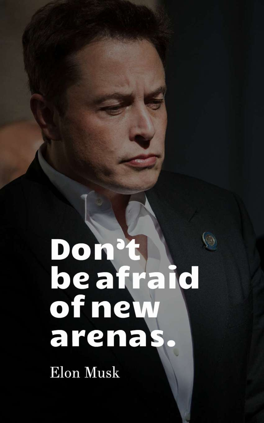 Don't be afraid of new arenas.