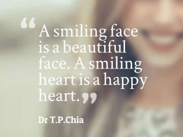 A smiling face is a beautiful face. A smiling heart is a happy heart.