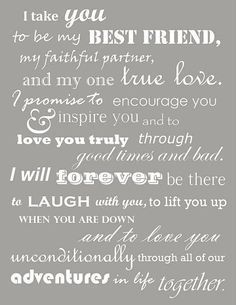 20 Wedding Vows For Him Quotes Ideas
