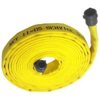 Double jacket fire hose 1-1/2 inch x 50 feet coupled with ...