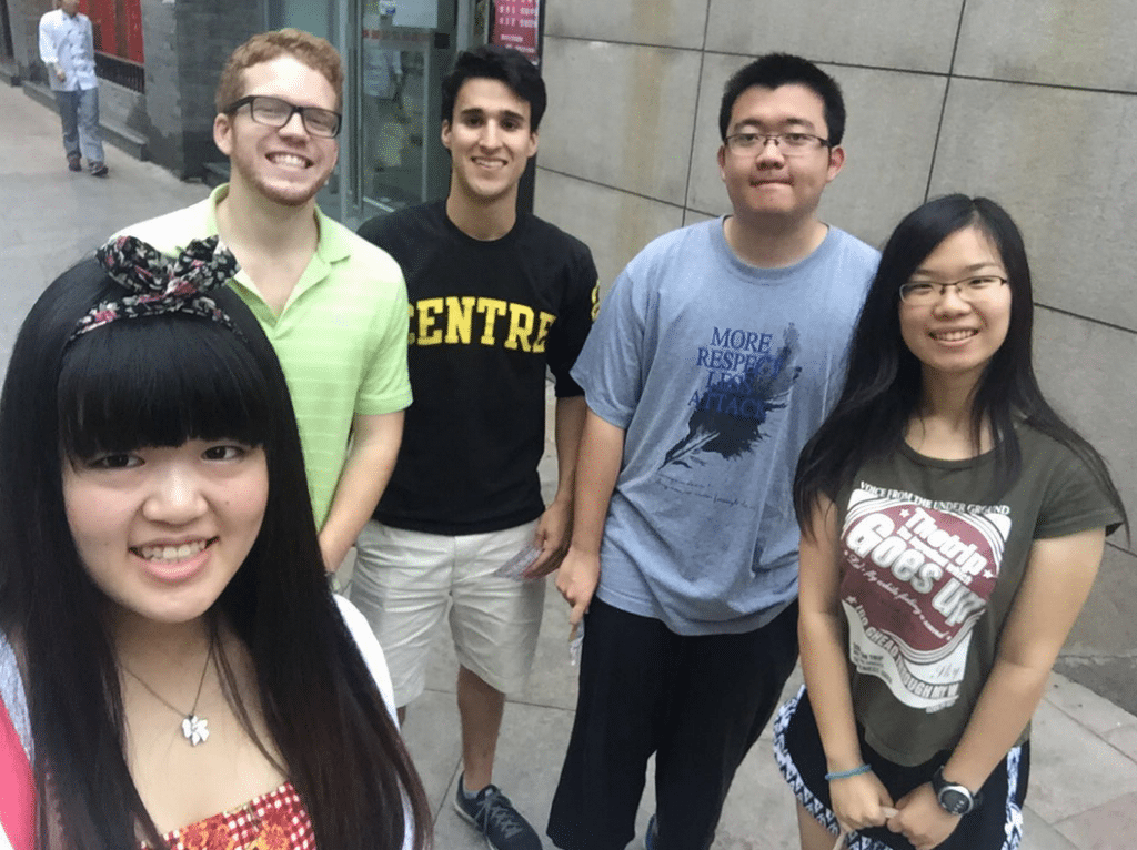 "Minh Duc ""Luke"" Nguyen '18 and Nam Dang '17 met with several students in Hanoi, Vietnam, as well as their parents, and were able to discuss Centre life in a more personable manner. Zhen ""Jack"" Zhang '16 and Di Huang '18 met with students in Beijing. Borui ""Kimmy"" Zhang '16 reached out to students to help organize meetings in the Shanghai, Zhengzhou and Chengdu provinces of China, enlisting the help of Max Addington '18, Cesar Garcia '18 and Yichen Zhang '18, who acted as area leaders and hosts for events."