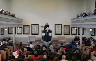 "bestselling author Nathaniel Philbrick reading the most famous opening line in American literature, ""Call me Ishmael,"" in the Seamen's Bethel in New Bedford, Mass."