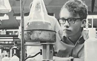 a Centre student hard at work in the science lab originally appeared in the 1967 yearbook