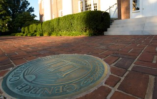 Centre College Seal in front of Old Centre