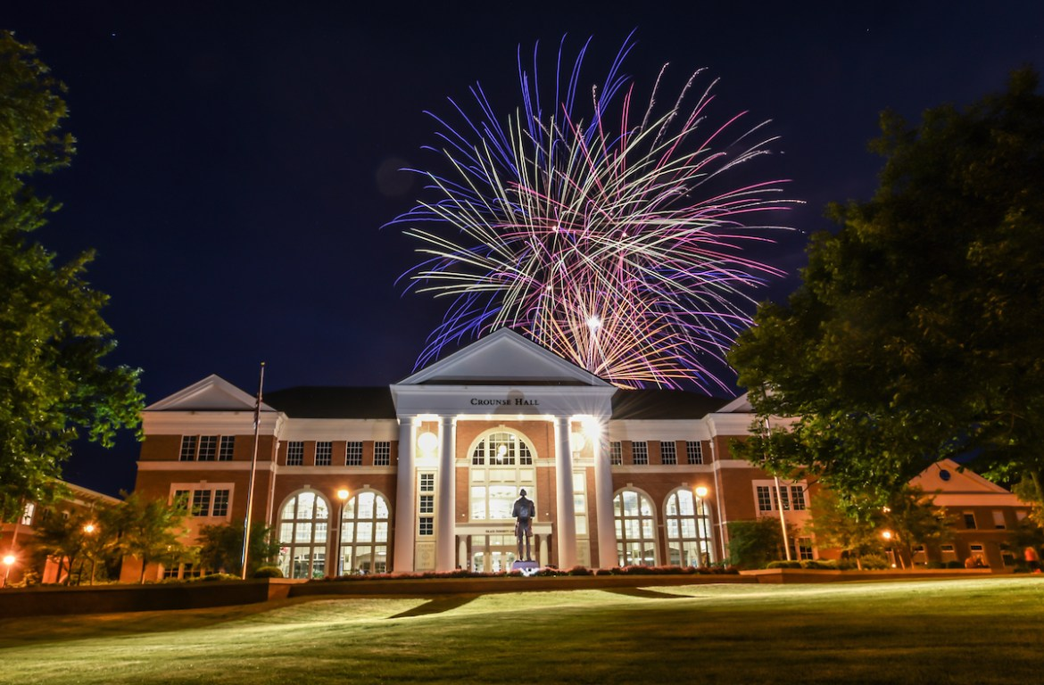 fireworks during Commencement Weekend 2015