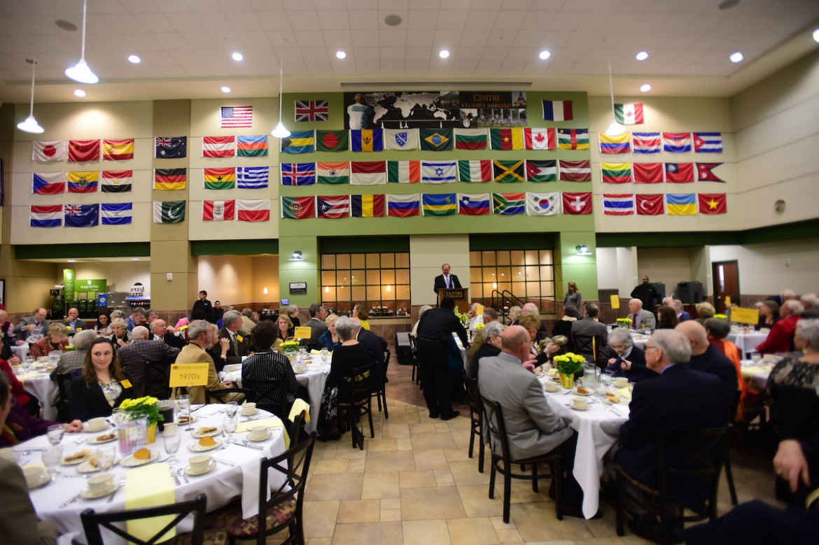 Centre donors attending a recognition dinner