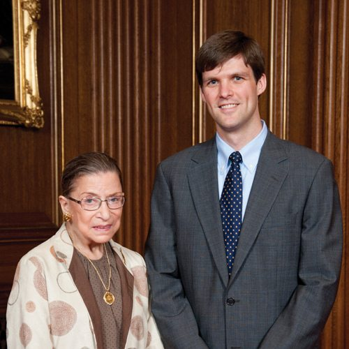 Benjamin Beaton '03 with Ruth Bader Ginsburg
