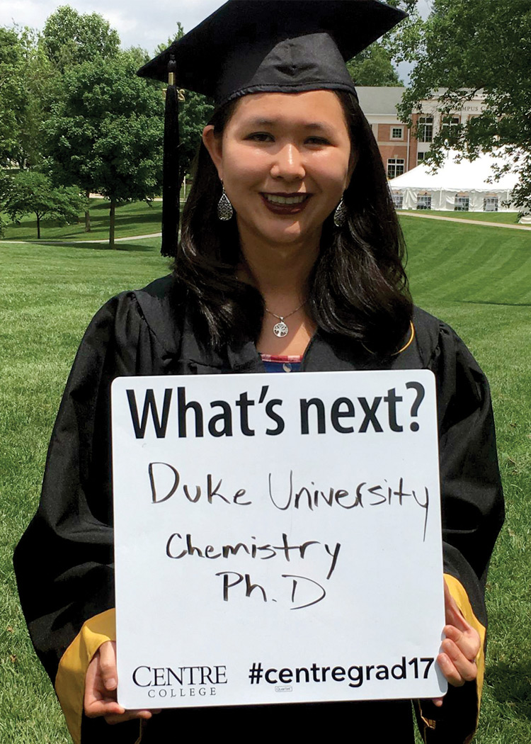 Joanna Campbell '17 at Commencement