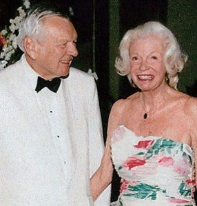 George and Eleanor Crounse in 1990 on their 50th wedding anniversary