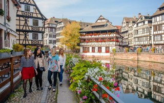students enjoying the outdoors in Strasbourg, France
