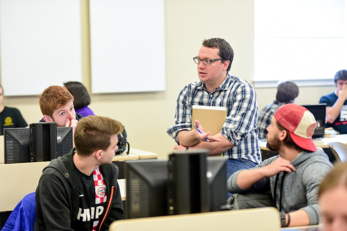 The course History and Video Games was taught this CentreTerm by Assistant Professor of History John Harney. The course focused how video games tell history, considering such issues as historical accuracy and depictions of race, class, and gender over time.
