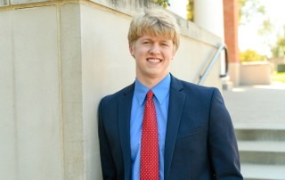 Noah Martin was the student speaker at Honors convocation
