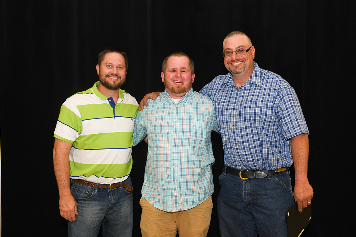 Horky Service Awards were presented to Matthew Devensky, Cody Kitchen and Stephen Issac
