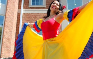 Latina dancer at Latin American Cultural Festival hosted by the Latin American Students' Organization