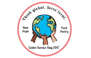 Think global/Service local logo