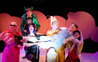 Dress rehersal for the spring Drama Centre play. This year the featured production is James and The Giant Peach.