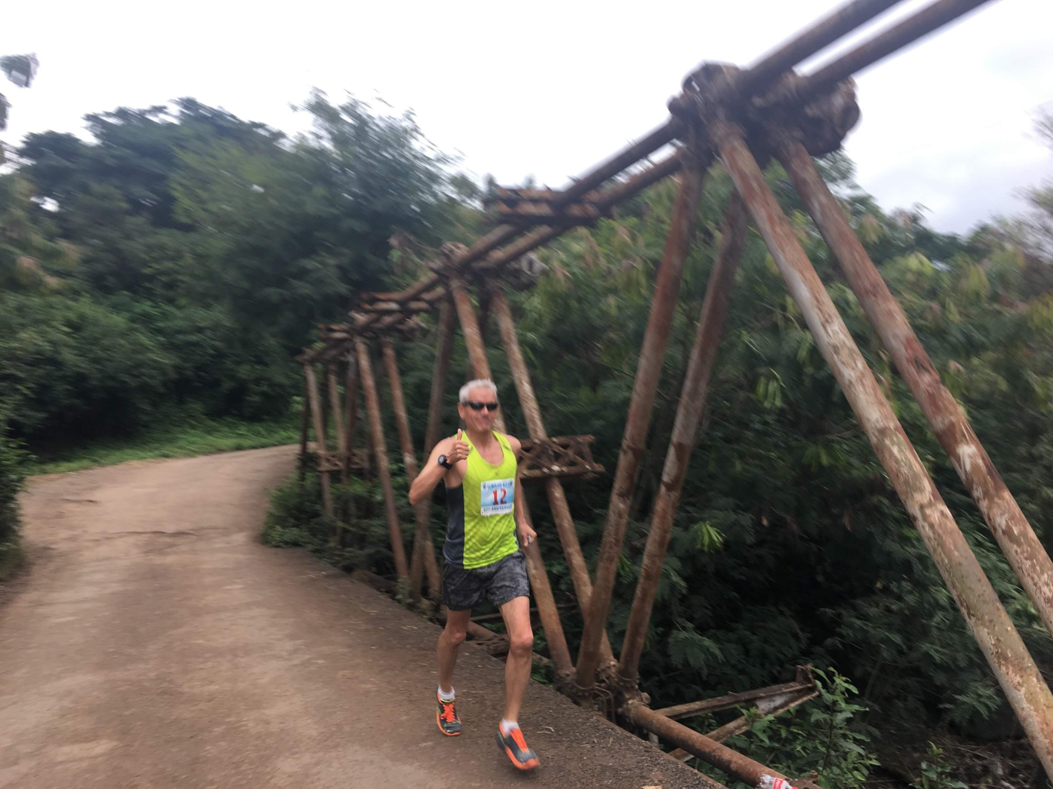 David Anderson running the Tanzania Marathon